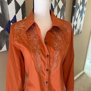 Western shirt with amazing thread detail